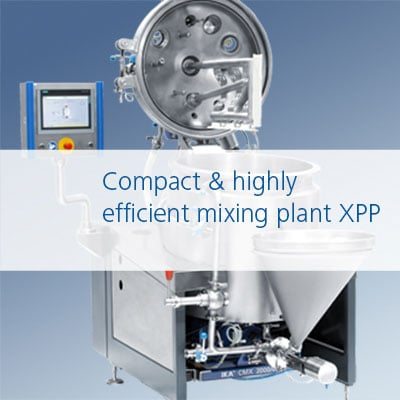 Compact mixing and dispersing plant / Kompakte Mischanlage und Dispergieranlage